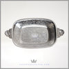 Antique English Silverplate Embossed Bread Dish c. 1910 | Barker - Ellis
