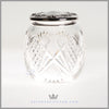 Antique Sterling Silver & Crystal Cookie Jar  c. 1900| Mechanics Sterling Company
