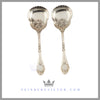 Pair of Silver Plated Berry Spoons c. 1875 | Lee & Wigfull