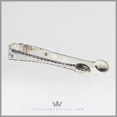 Sterling Silver Antique German Sugar Tongs | Feinberg Silver