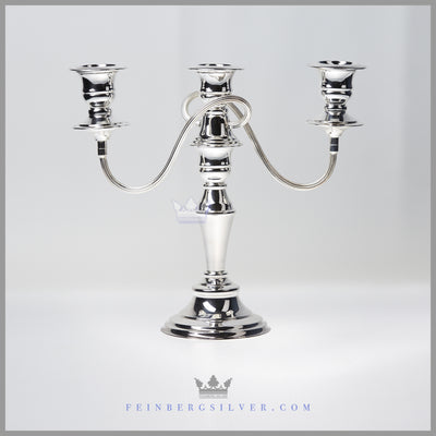 Vintage Silver Candelabrum C 1980 Silverplate EPC Silver and Copper Sheffield Cooper Brothers