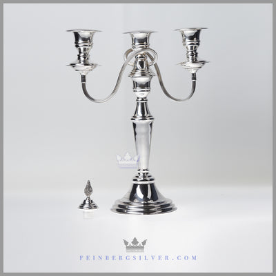 NEW -Vintage English Silver Plated 3 Light Candelabrum c.1980 | Cooper Brothers