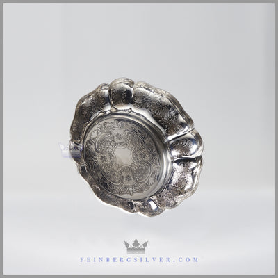 "NEW Round, Melon Vintage English Silverplate Candy/Sweet Dish 6""  c.1980 