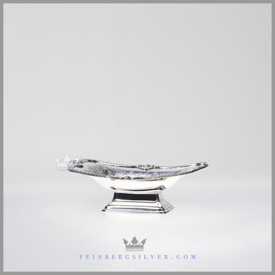 NEW Oblong Vintage English Silverplate Candy/Sweet Dish c.1980 | Barker - Ellis for I. Freeman
