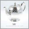 Antique Victorian English Round Teapot Silverplate