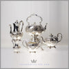 Roberts & Hall 5 Piece Tea Set Silver Plated EPNS Antique Victorian For Sale | Feinberg Silver