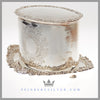 Antique English Silver Plate Oval Biscuit Box - circa 1890