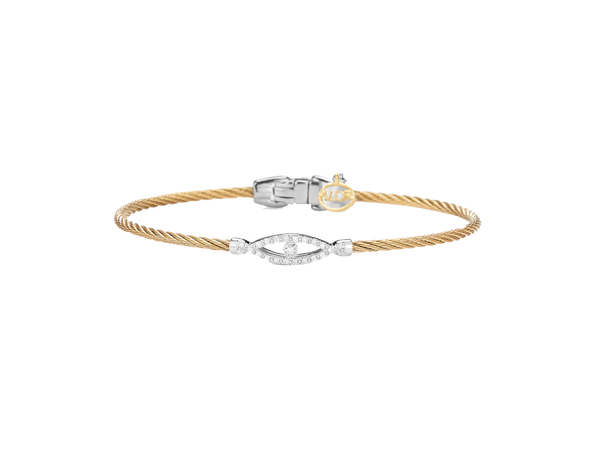 Alor Diamond and Cable Bangle Bracelet