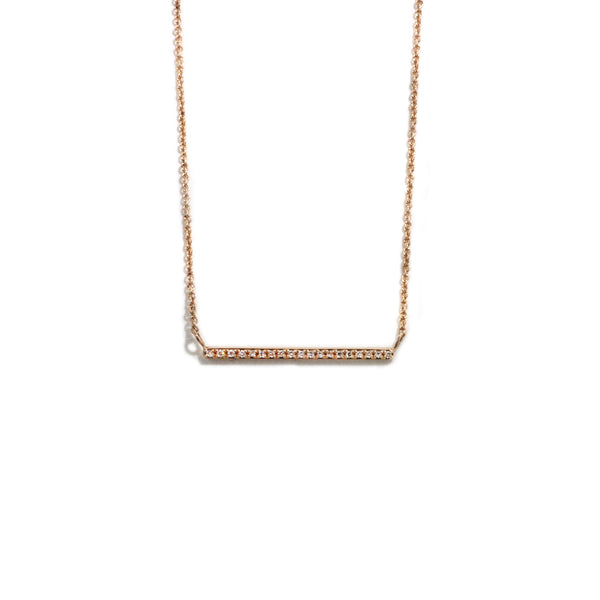 14KT Rose Gold Bar Necklace