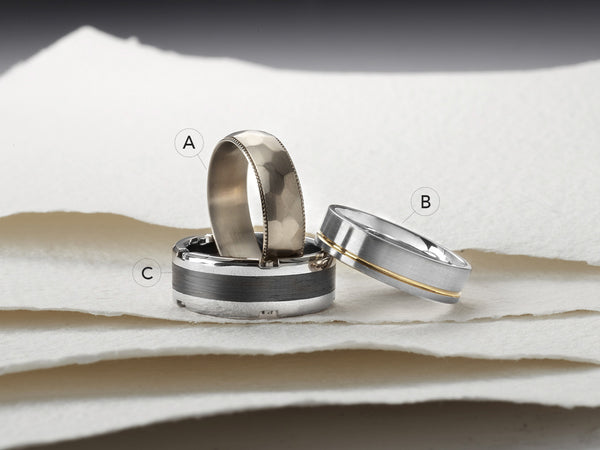 Furrer Jacot Mens Wedding Bands