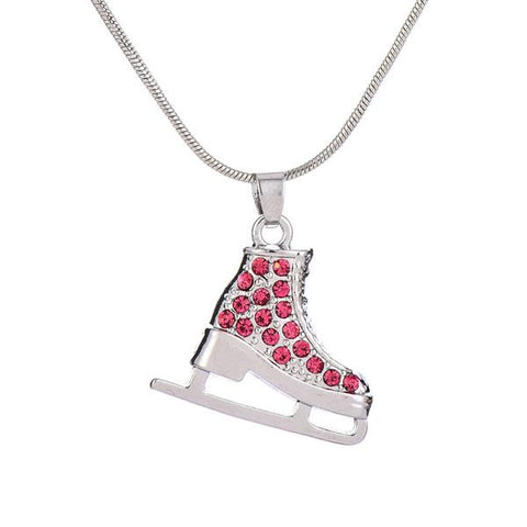 3d ice skate crystals necklace multi color seyia 3d ice skate crystals necklace multi color aloadofball Gallery