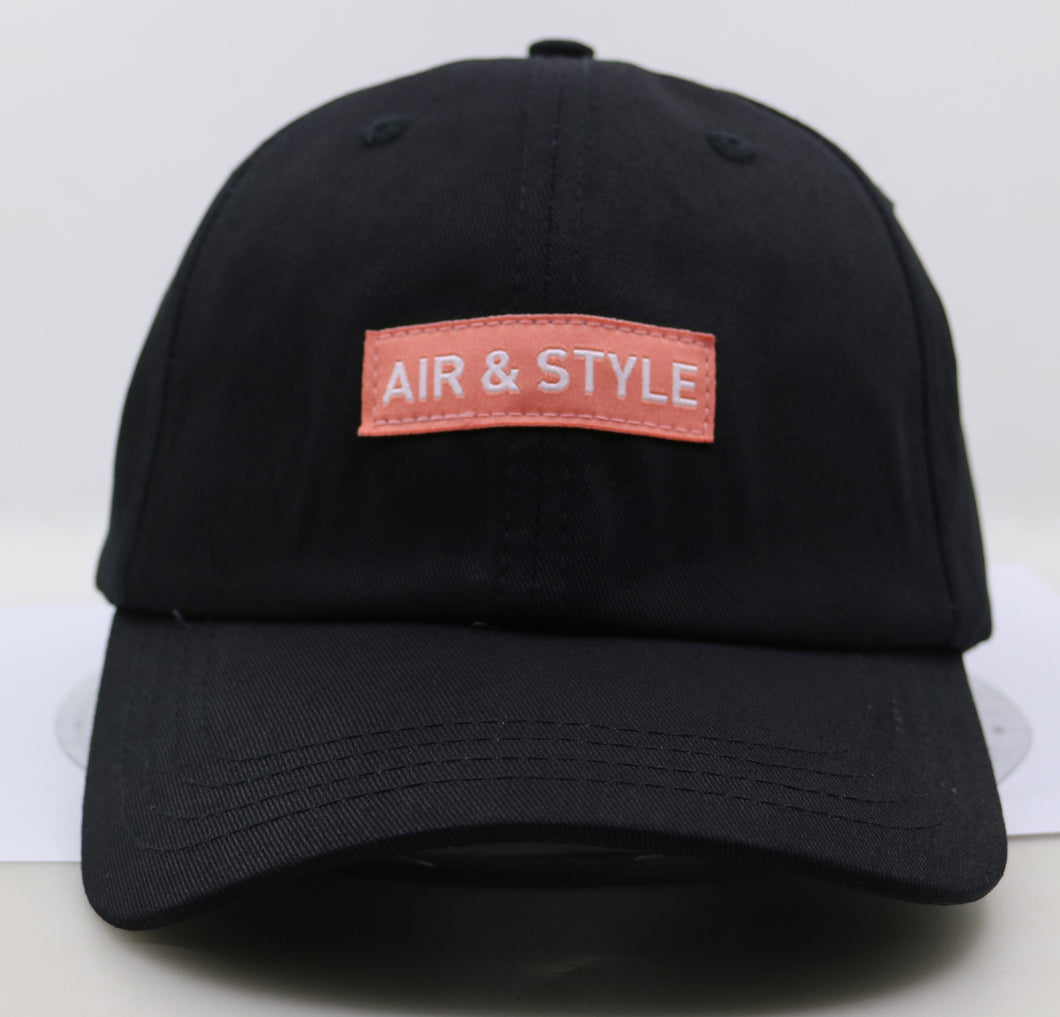 Air + Style Dad Hat Blk