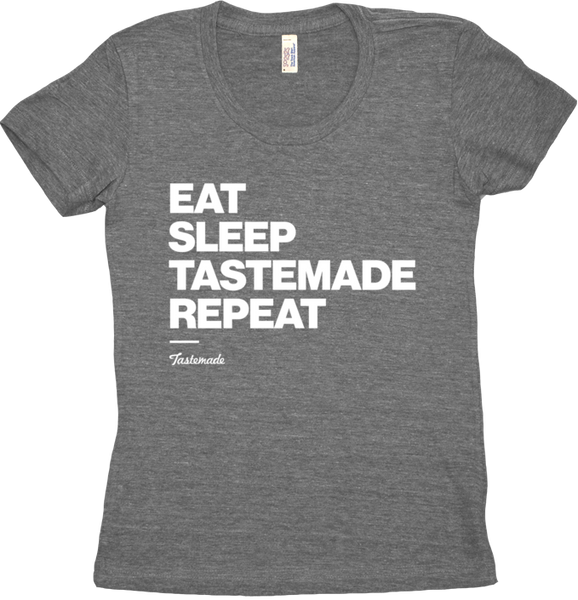 Camiseta Eat Sleep Tastemade Repeat Feminina