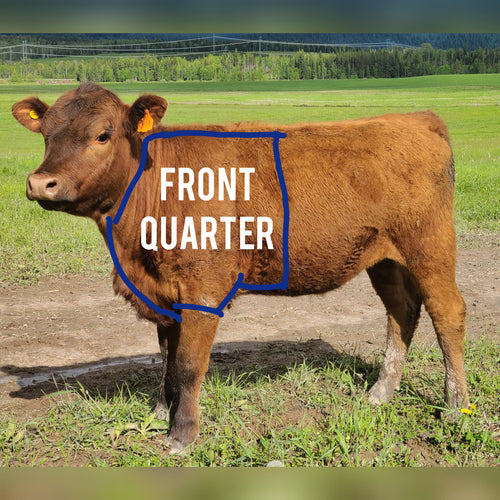 Beef by the Quarter: Fore ($7.50/lb)