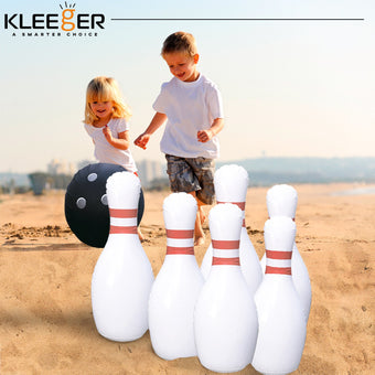Kleeger Giant Jumbo Inflatable Bowling Game Set, Outdoor & Indoor Fun For Children And Adults