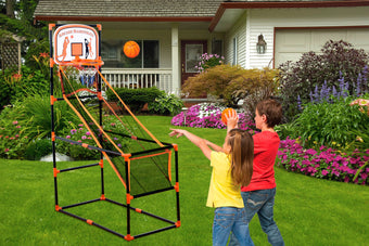 Kleeger Arcade Basketball Hoop Game - Single Shot Indoor Shooting System with Mini Hoop, Ball and Pump for Kids