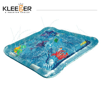 Kleeger Baby Wading Kiddie Pool: Outdoor Squirt & Splash Water Fun For Toddlers, Simple Instant Set Up