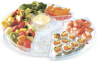 Kleeger Chilled Serving Appetizer Tray Platter 6 Sections