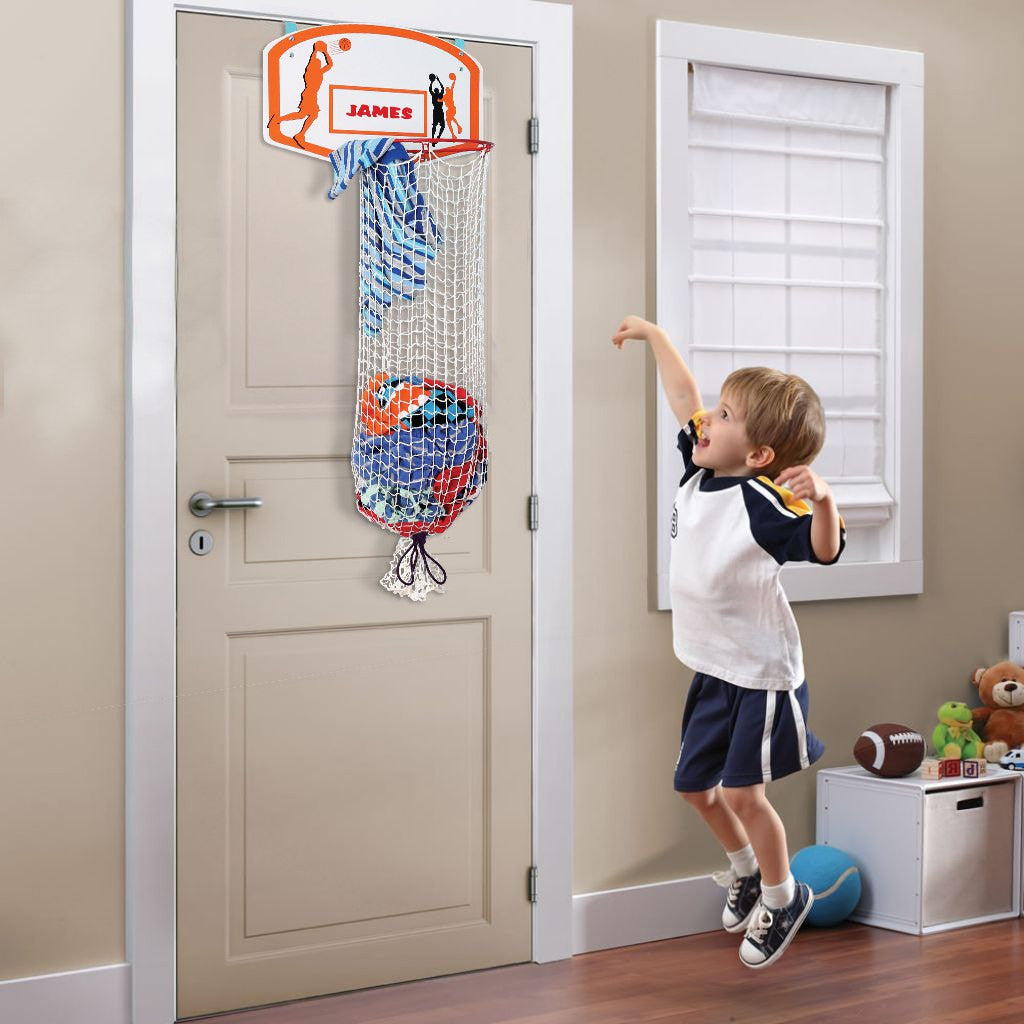 Kleeger Kids Basketball Clothes Hamper 2 In 1 Basketball