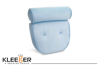Kleeger Hot Tub Bath Pillow: Home Spa Jacuzzi Neck & Back Support, Soft Non-Slip Cushion With 4 Suction Cups, Anti Mold/Mildew