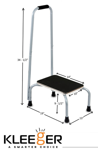 Kleeger Step Stool Support Ladder With Handrail: Safe Non