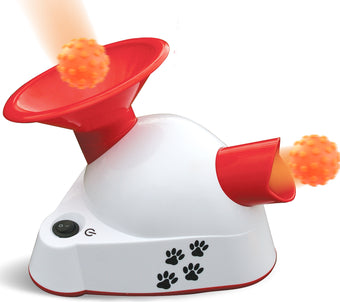 Kleeger Automatic Dog Ball Fetcher Talking Trainer Toy | Dog Ball Launcher / Thrower For Indoor Or Outdoor Use| Interactive Ball Fetching Machine with 3 Small Balls