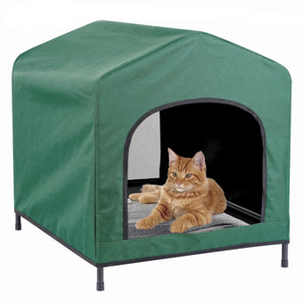 Kleeger Premium Canopy Pet House Retreat – Waterproof Indoor & Outdoor Shelter - Suitable For Cats & Small Dogs - Lightweight, Portable & Comfortable - Breathable Mesh Floor