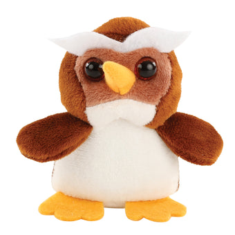 Kleeger Cute Plush Woodland Animals Toy Set For Kids With Carrier | Adorable & Fluffy Stuffed Owl, Raccoon, Fox & Squirrel Toys With Sounds (Country Friends)
