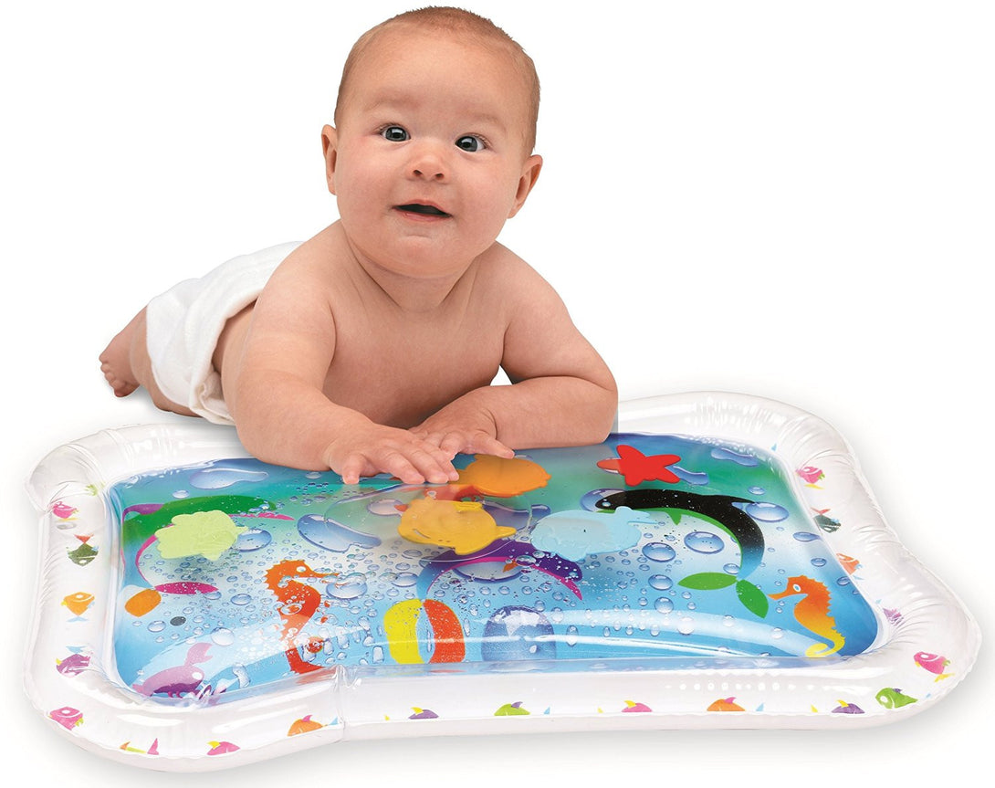 Kleeger Inflatable Baby Water Play Mat Center. Fun Activity For Children And Infants