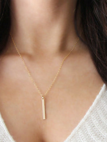 Vertical Bar Necklace - Women's clothing