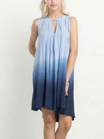 Head In The Clouds Ombre Dress - Women's clothing