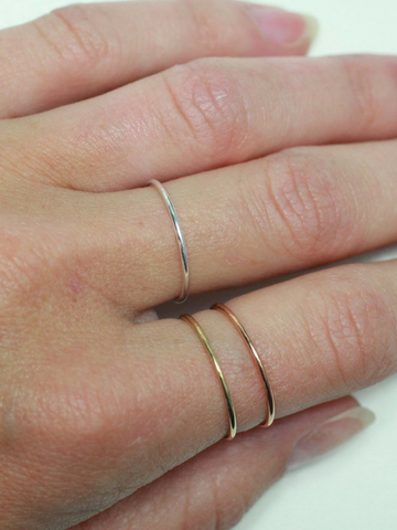 Dainty Stackable Rings - Women's clothing