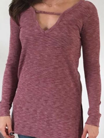 Bringing Sexy Back V-Neck/V-Back Tunic - Women's clothing