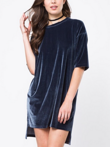 All Sass Velvet Dress - Women's clothing