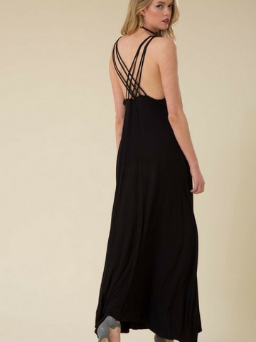 Back For More Cross Back Maxi Dress - Women's clothing