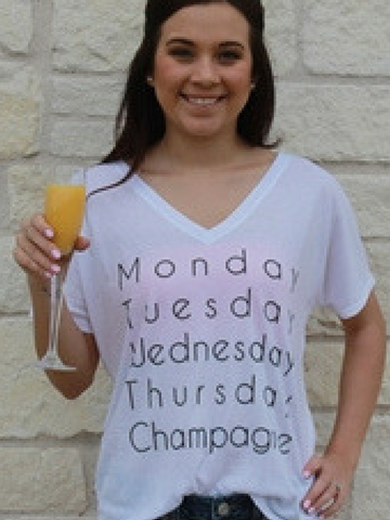 Champagne Everyday Graphic Tee - Women's clothing