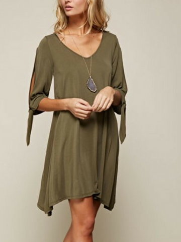 Autumn Dreams Open Sleeve Dress - Women's clothing