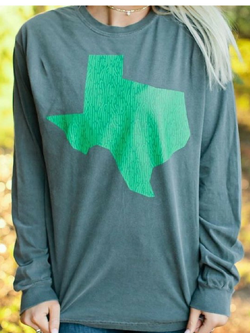 Texas Prickly Pear Long Sleeve Tee - Women's clothing