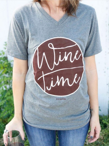 Wine Time Graphic Tee - Women's clothing