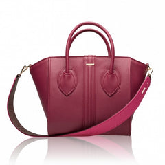 Two-tone strap in Cranberry & Fuchsia by Alexandra K
