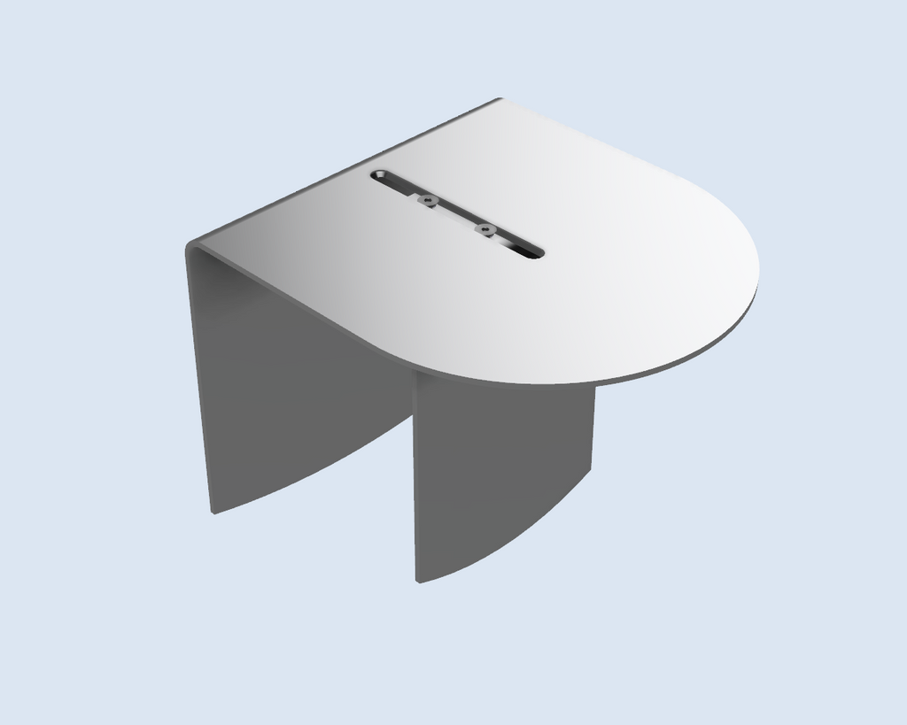 Wingz Table – aluminum armrest table