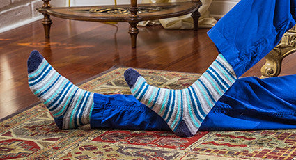 mens discount fuzzy slipper socks