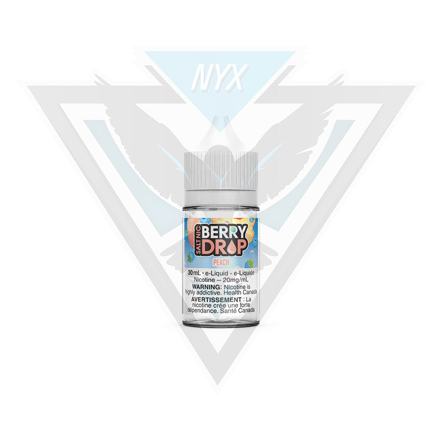 PEACH SALT BY BERRY DROP E-LIQUID 30ML - NYX ECIGS-VAPE