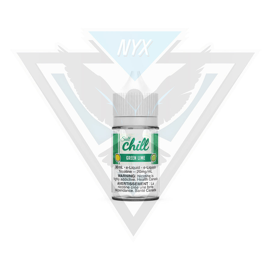 CHILL ELIQUID GREEN LIME SALT 30ML - NYX ECIGS
