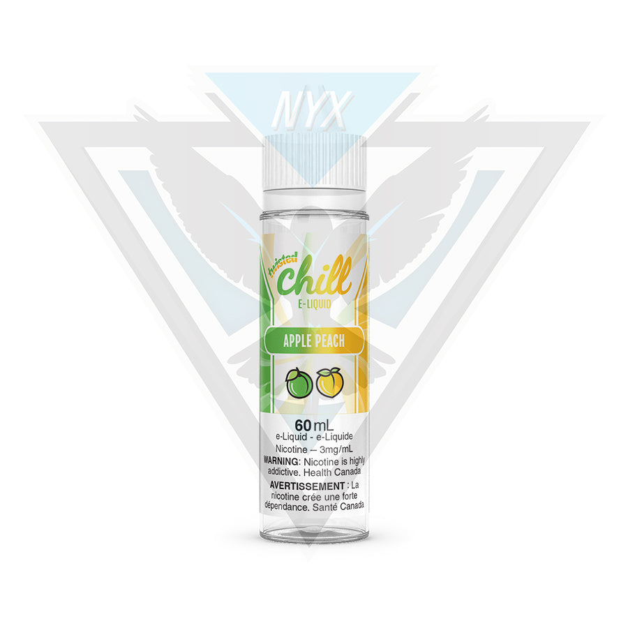 CHILL TWISTED APPLE PEACH E-LIQUID 60ML - NYX ECIGS