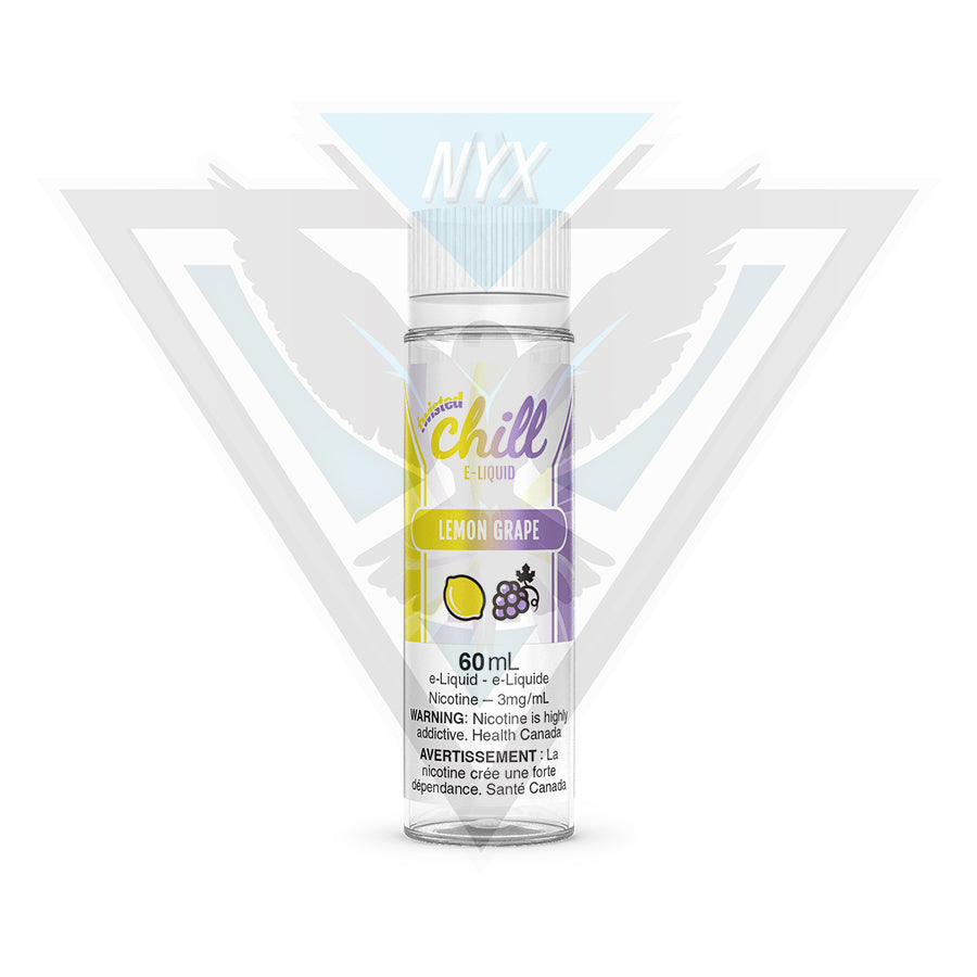 CHILL TWISTED LEMON GRAPE E-LIQUID 60ML - NYX ECIGS
