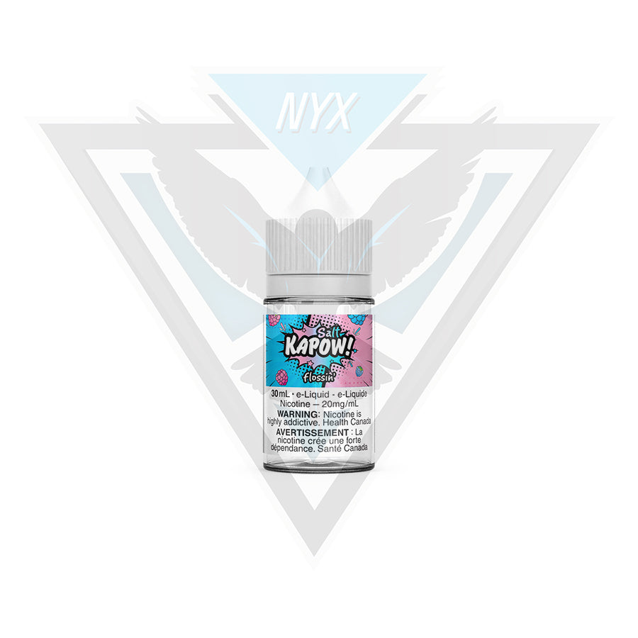 KAPOW SALT FLOSSIN E-LIQUID 30ML - NYX ECIGS-VAPE