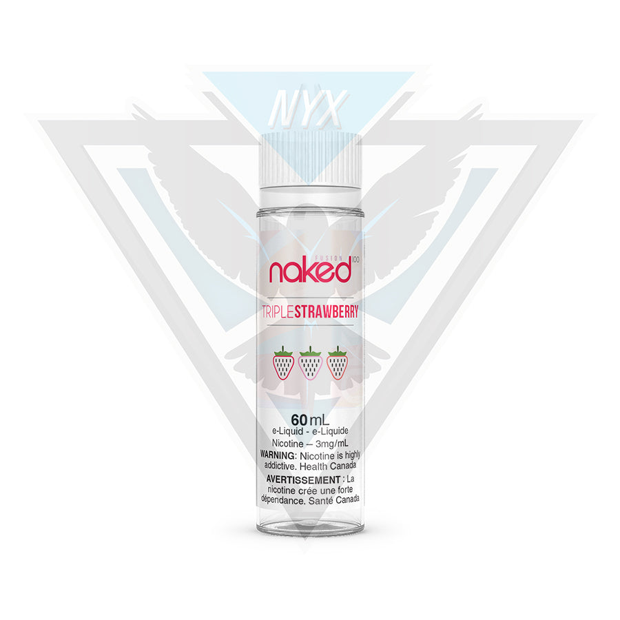 NAKED100 TRIPLE STRAWBERRY 60ML - NYX ECIGS