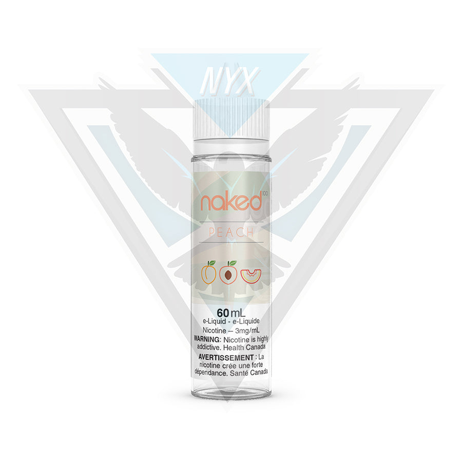 NAKED100 PEACH E-LIQUID 60ML - NYX ECIGS-VAPE