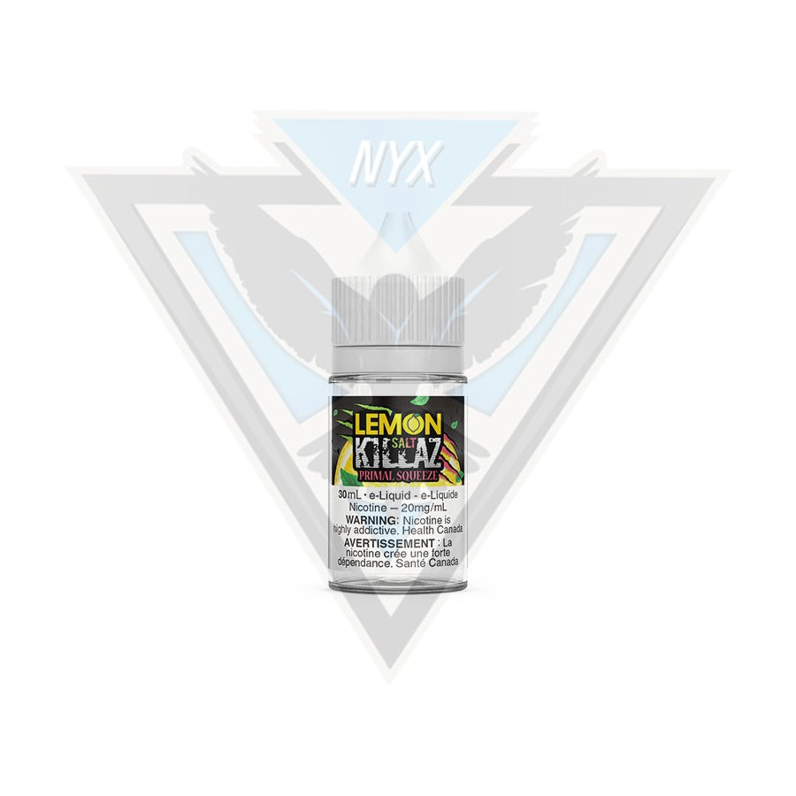 LEMON KILLAZ SALT PRIMAL SQUEEZE E-LIQUID 30ML - NYX ECIGS-VAPE